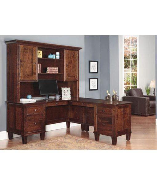 georgetown office desk with return and hutch g2468h 1