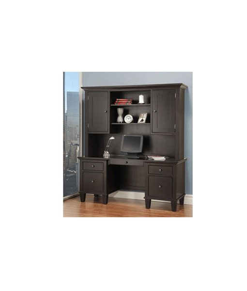 Georgetown office desk with return and hutch G2468H_3