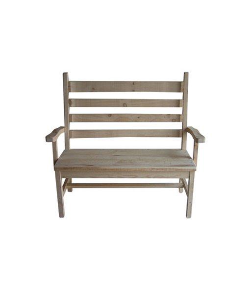 Rustic settee 1026L