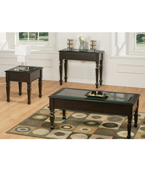 Tripoli living room collection with glass penwood furniture for Glass living room furniture