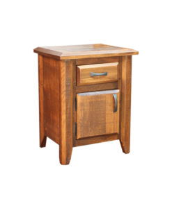 Bevel 1 Drawer and 1 Door Nightstand BVNS2228
