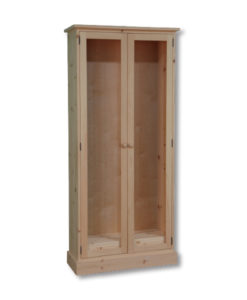 Cottage Standard Tall Bookcase with full glass doors CT1436D