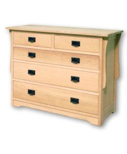 Mission 5 Drawer Dresser Q15