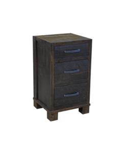 Backwoods-3-Drawer-Nightstand-(Finished-in-Dark-Brown-Walnut)