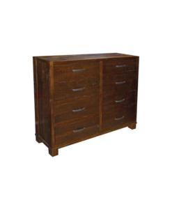 Backwoods-8-Drawer-Dresser-(Finished-in-Amber)