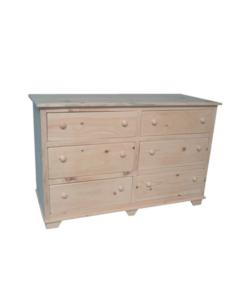 Nith River Rustic 6 Drawer Dresser