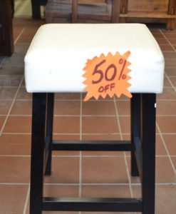 "24"" LEATHER TOP STOOL $289 - 50% Off"